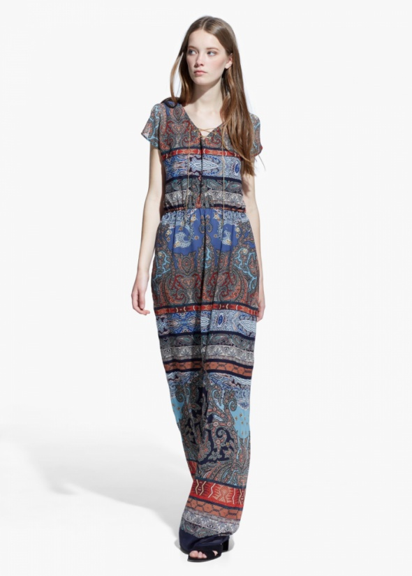 b1931fc48f Suknie i sukienki Mango paisley maxi sukienka wzorki etno boho kolorowa