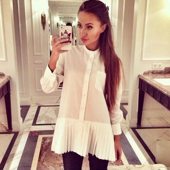 Biała dłuższa koszula