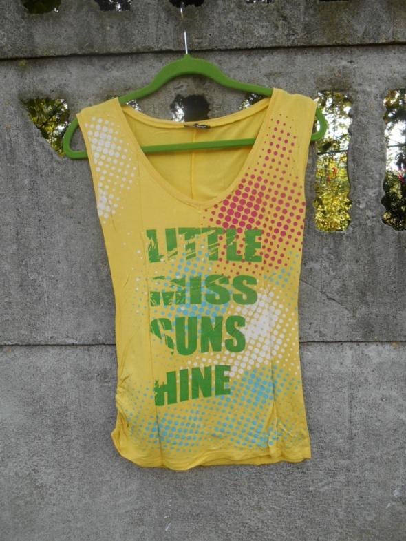 słoneczna Bluzka S M z nadrukiem Miss Berge...