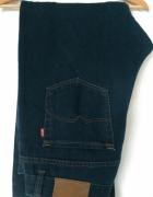 Męskie jeansy spodnie dżinsy XL ciemny granatowy...