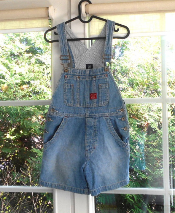 GAP ogrodniczki jeans jeansowy kombinezon krótki...