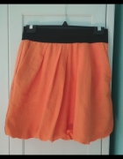 Spódnica bombka ZARA pomarańcz