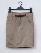 Ołówkowa spódnica w stylu safari