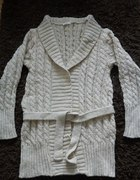 Sweter beżowy warkocz rozm M L