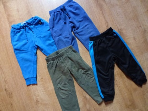 Spodnie dresowe 3 pary 92 2 lata reebok stan bdb