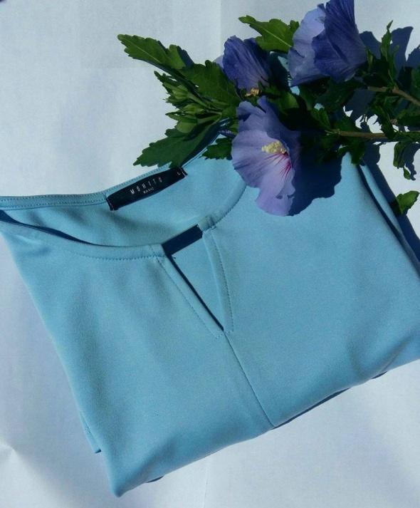 Niebieska elegancka bluzka MOHITO...