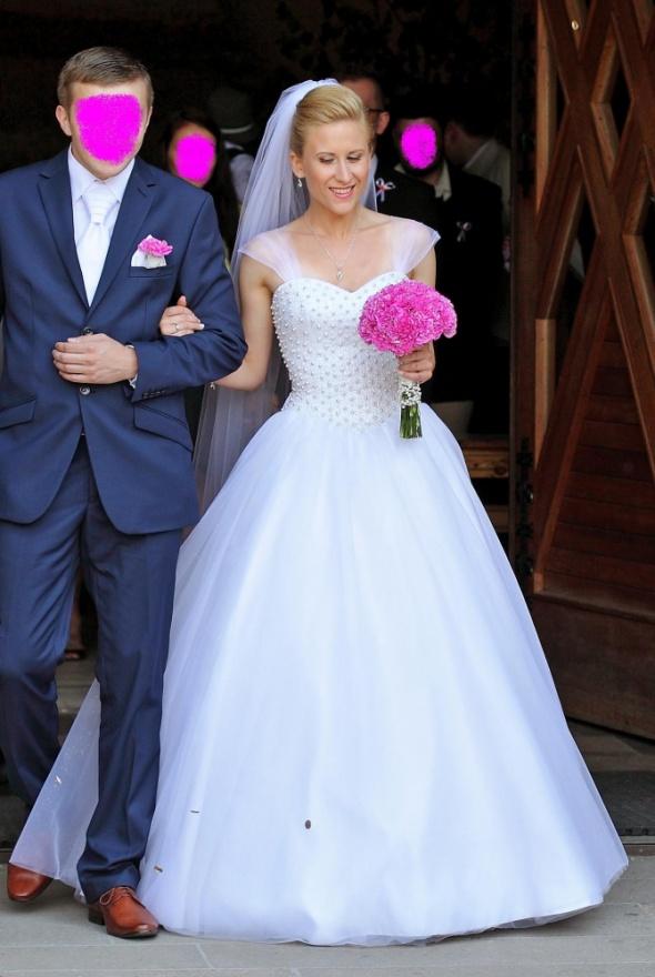 Suknia ślubna Princeska Perełki Kryształki Dodatki W Suknie ślubne