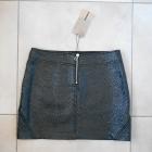 Zara nowa lakierowana spódniczka czarna mini zamek zip eko skóra