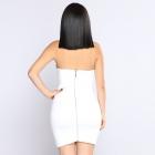 Biała Sukienka złote ozdoby