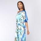 Niebieska sukienka maxi