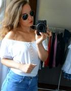 bluzka hiszpanka biała