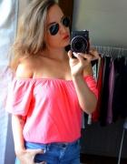 Bluzka hiszpanka neon