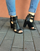 Szpilki sandałki heels lity...