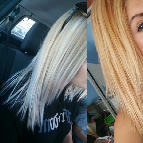Niebieska maska do włosów