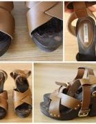 Skórzane sandały mango 38...