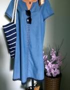 jeansowa sukienka urlopowo...