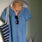 jeansowa sukienka urlopowo