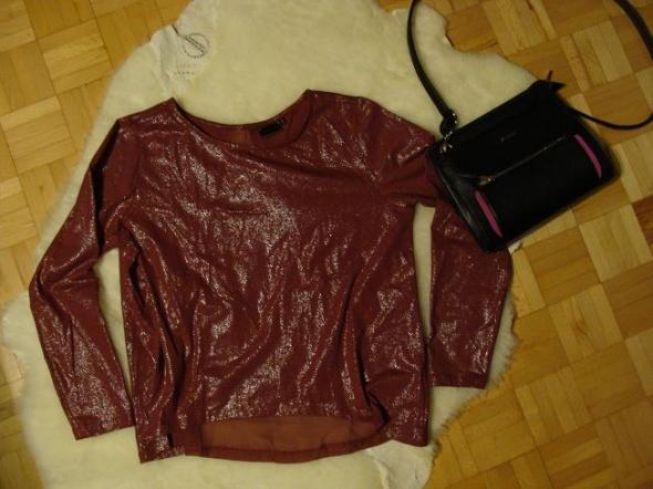 bon prix NOWA czerwona bluzeczka asymetryczna siat...