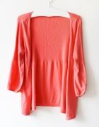 koralowy sweterek XL