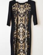 sukienka z wzorem S