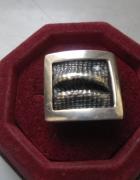 Srebrny pierścionek oksyda część kompletu