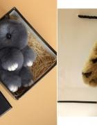 Prześliczny króliczek breloczek na prezent zestaw