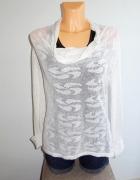 OBJECT biały ażurowy sweterek bluza 38 M...