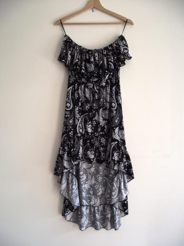 0a3f17ac95 Suknie i sukienki Piękna asymetryczna sukienka hiszpanka czarno biała  Selected M L