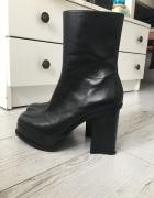 Skórzane botki Zara 37 nowe...