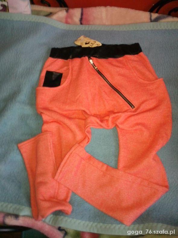 spodnie z zamkiem