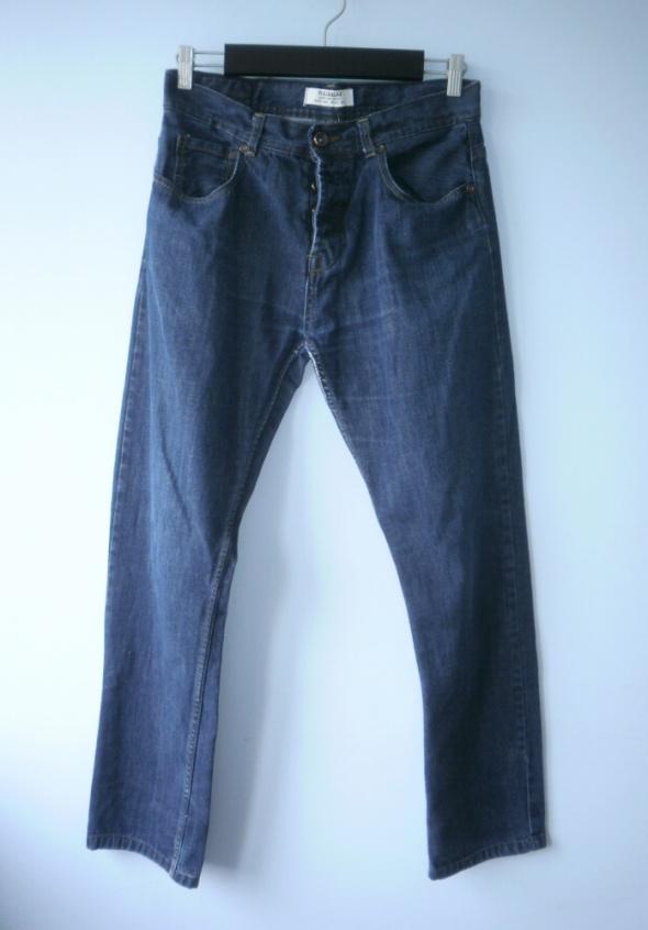 Pull and Bear męskie spodnie jeansy jeans ciemne...