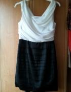czarno biała sukienka 38...