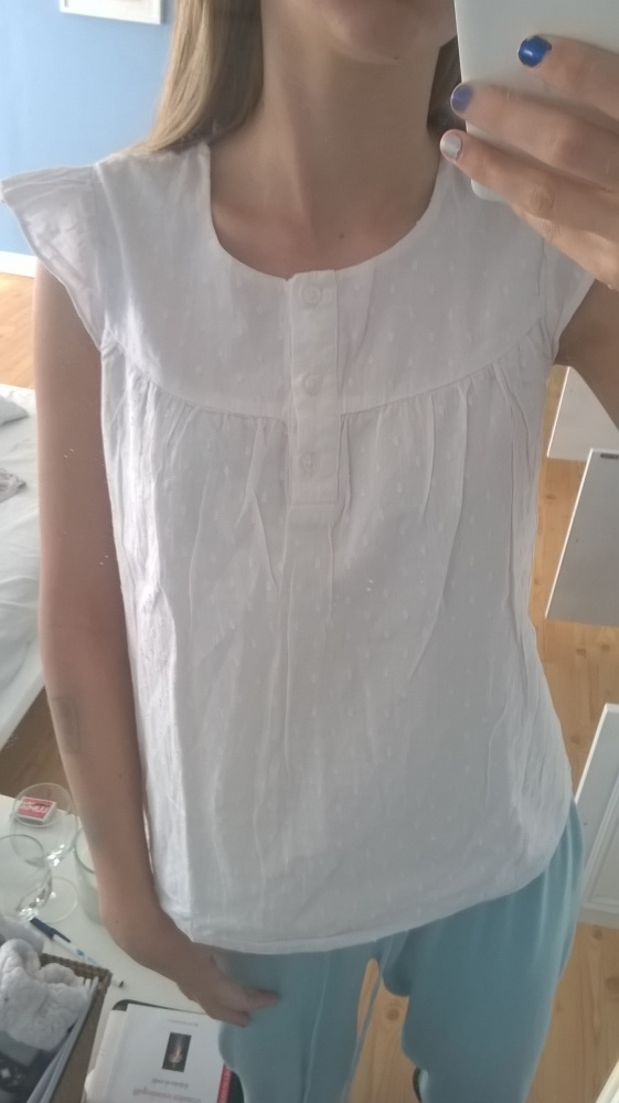 biała bluzeczka koszula bluzka...