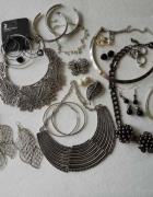 ZESTAW biżuterii Naszyjniki Bransoletki Kolczyki