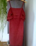 Sukienka hiszpanka wiśniowa Mango L...