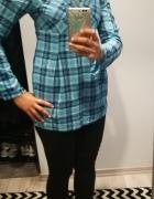 Koszula krata błękitna S...