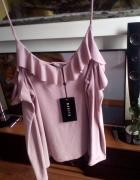 Cudna bluzka Mohito długi rękaw na ramiączkach S M Nowa...