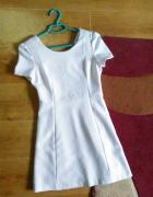 ZARA TRF biała sukienka trapez 34 XS mini...