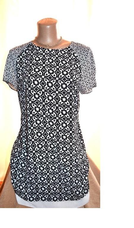 Elegancka zwiewna tunika sukienka