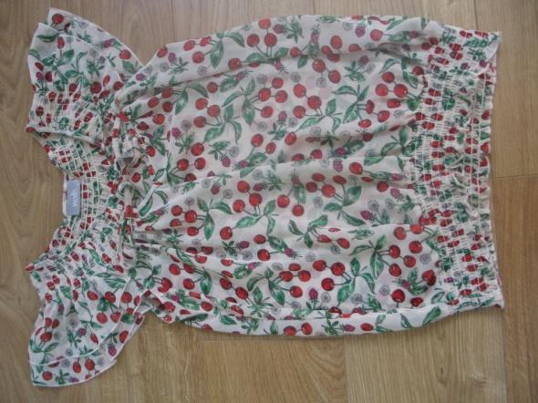 Zwiewna koszula na lato z motywem czereśni