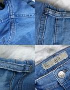 Spodnie rurki Topshop jamie dziury jasne 36