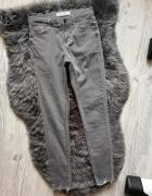 Spodnie rurki Topshop leigh szare skinny...