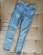 Spodnie rurki topshop jamie dziury przetarcia...