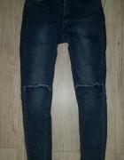 spodnie jeansowe dziury szarpane