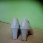 Szare lakierkowe pantofelki
