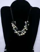 Naszyjnik klasyczne perły na wstążeczce...