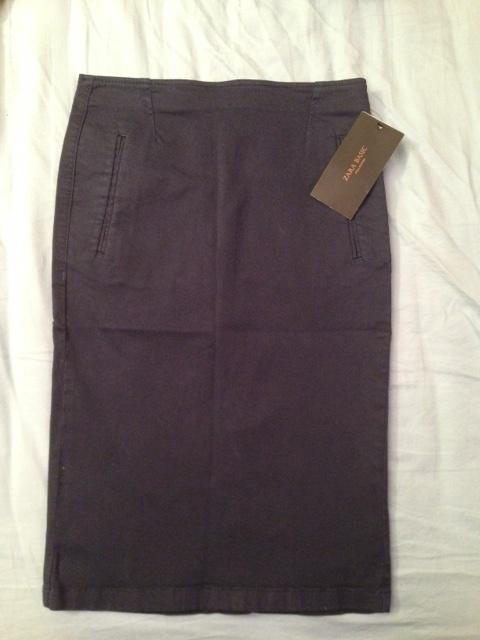 Spódnice Granatowa spódnica Zara nowa z metką