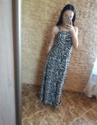 Sukienka zebra...