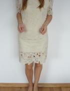 HIT sukienka gipiura koronkowa 36 38