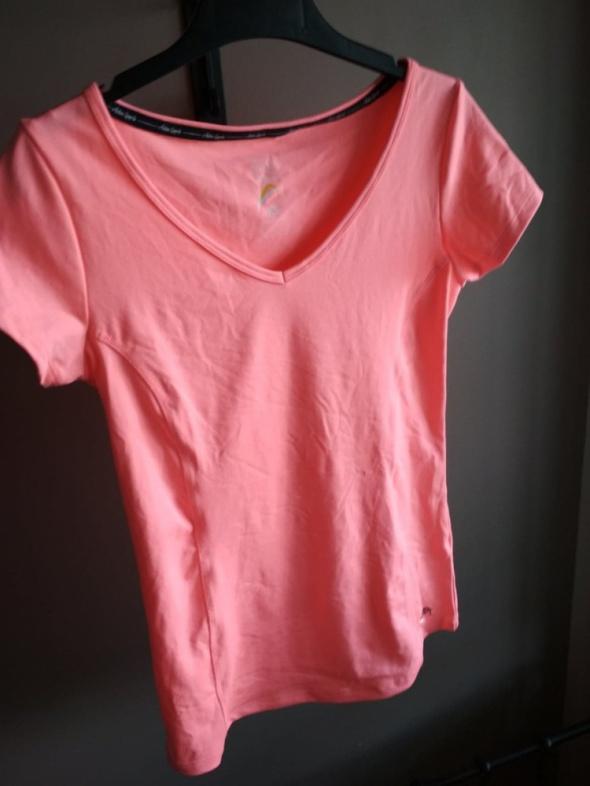 Sportowa koszulka XS neonowa różowa FF krótki rękaw...